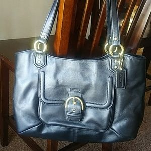 Coach Black Handbag large